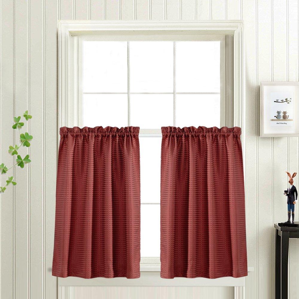 Amazoncom 45 Inch Long Curtains For Kitchenbathroom Window