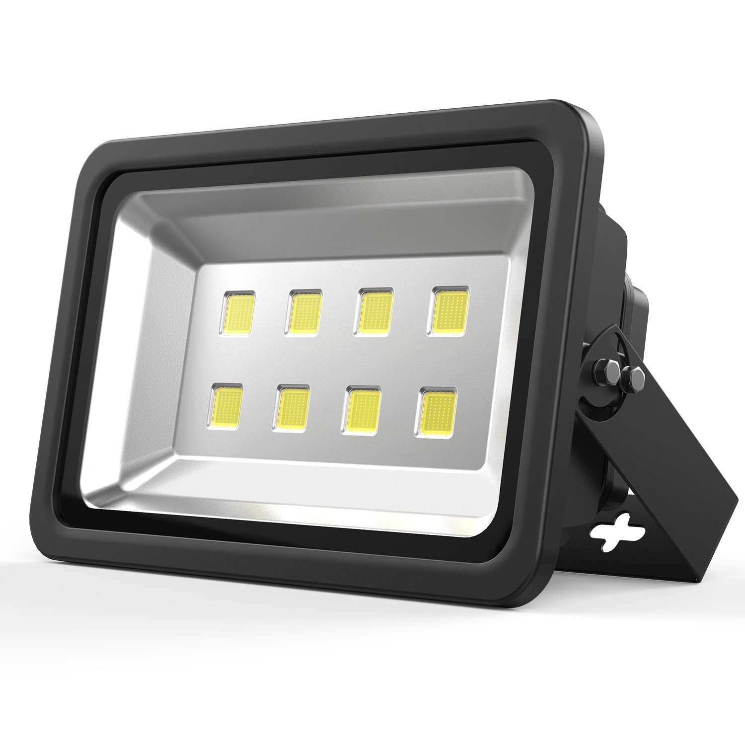 Outdoor LED floodlight, 400W Bright Security Flood Light Waterproof IP65 40000lm 6000K Daylight White, AC85-265V, 20000W Halogen Equivalent flood lighting for Yard, Party, Playground, Warehouse Black