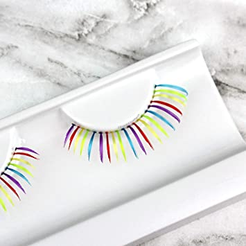 2385b8888eb PRIDE Rainbow colorful parade false eyelashes (Rainbow (bottom lashes))
