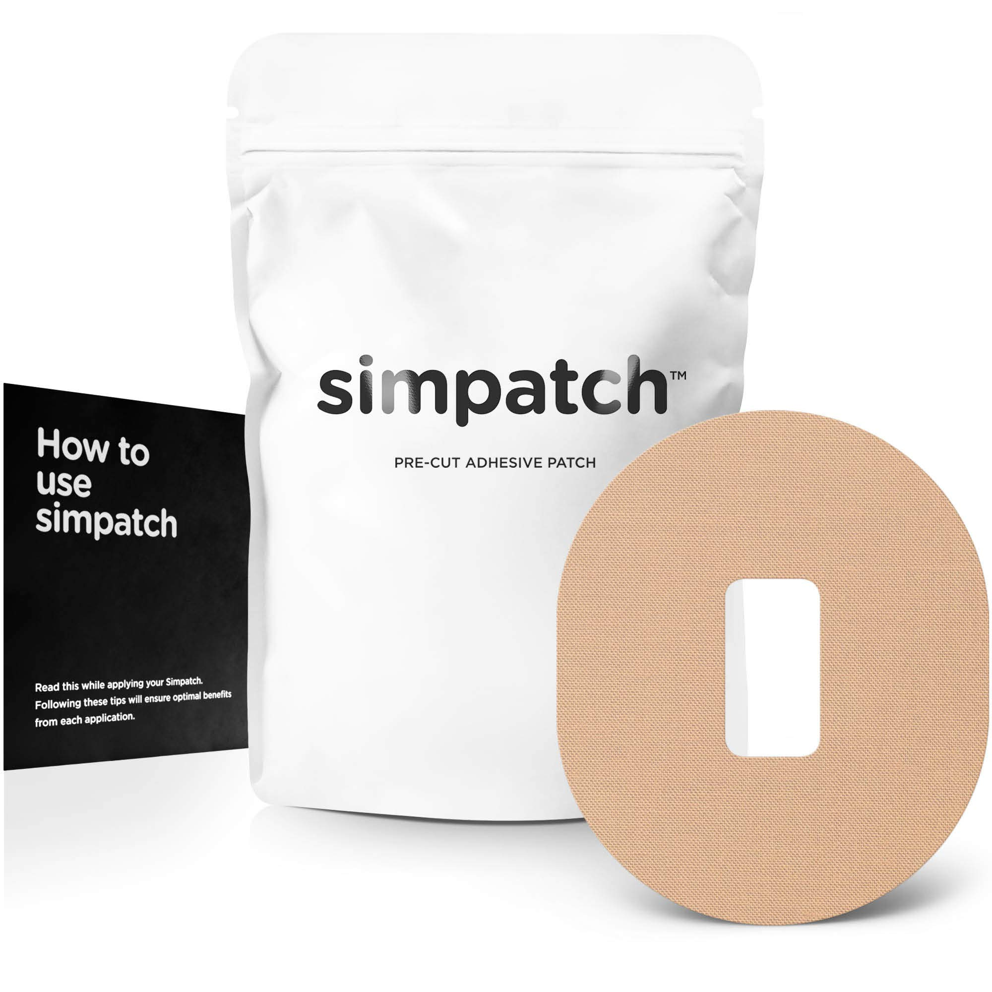 SIMPATCH Adhesive Patch for Dexcom - Pack of 25 - Multiple Colors Available (Beige) by SIMPATCH