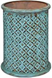 """Jofran 1730-17TRQ Global Archives Drum Table, 17"""" W X 17"""" D X 23"""" H, Turquoise Finish, (Set of 1)"""
