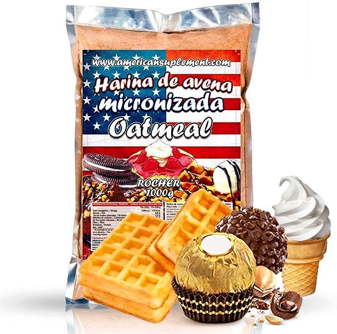 American Suplement - 1000 gr - Harina de Avena Integral, ideal para tortitas, batidos, bizcochos y magdalenas (BOMBON ROCHER): Amazon.es: Salud y cuidado personal