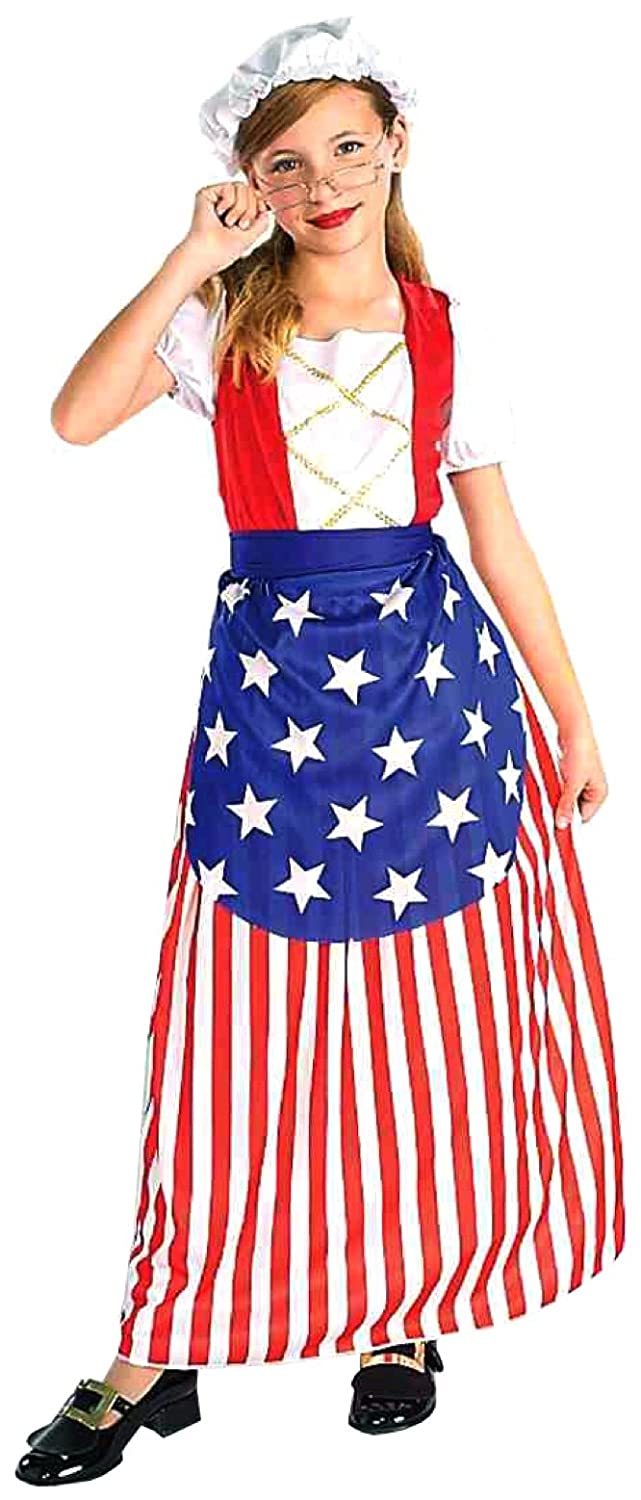 Forum Novelties Patriotic Party Betsy Ross Costume, Child Small