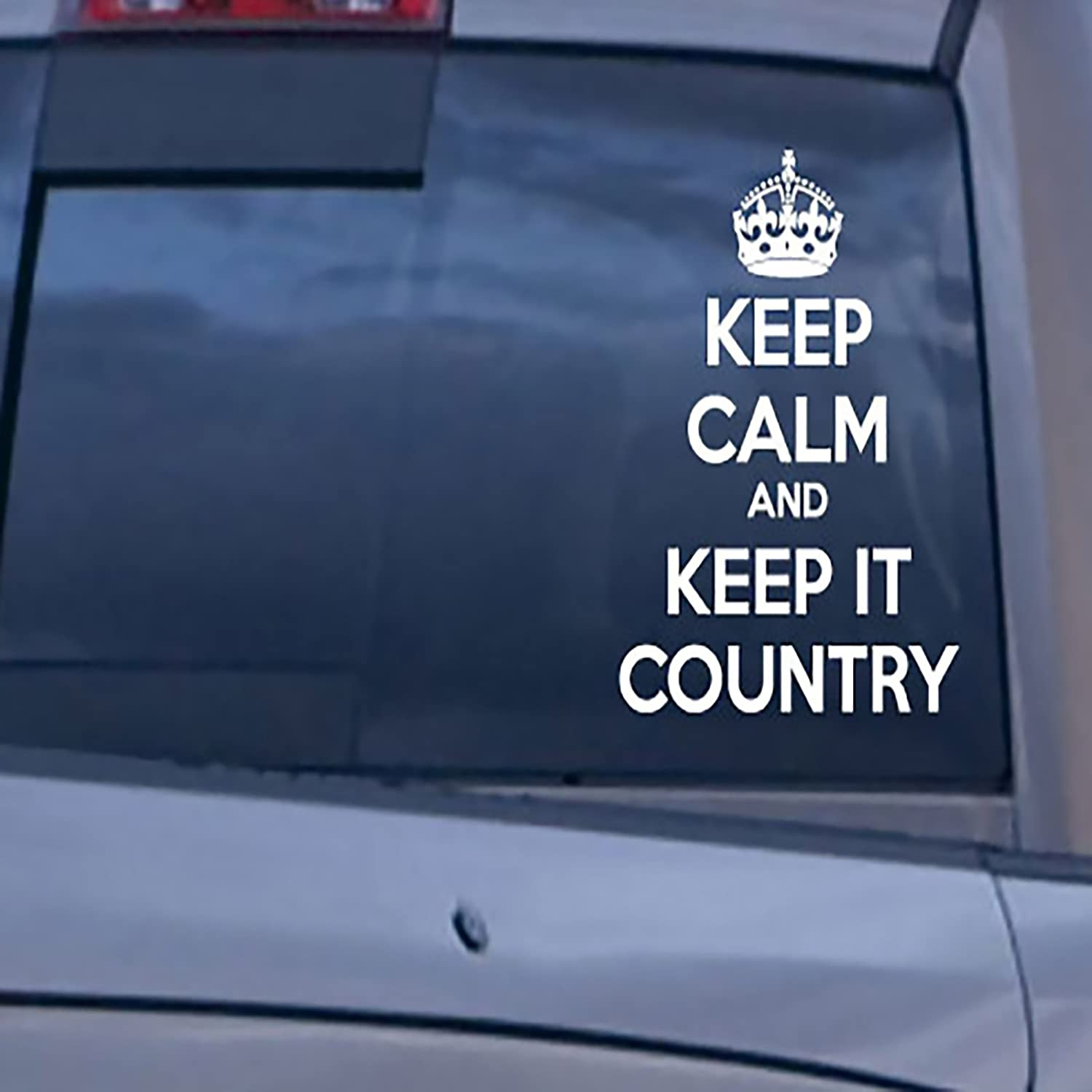 Amazon com keep calm and keep it country car decals stickers white 12 home kitchen
