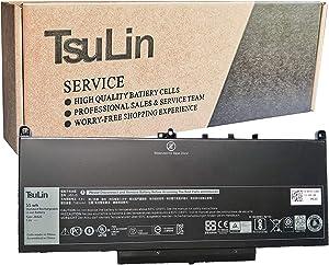 TsuLin J60J5 Laptop Battery Compatible with Dell Latitude E7470 E7270 7270 7470 Series R1V85 01W2Y2 1W2Y2 451-BBSX 451-BBSY 451-BBSU MC34Y 242WD GG4FM GG4FM R97YT 7.6V 55Wh 7080mAh