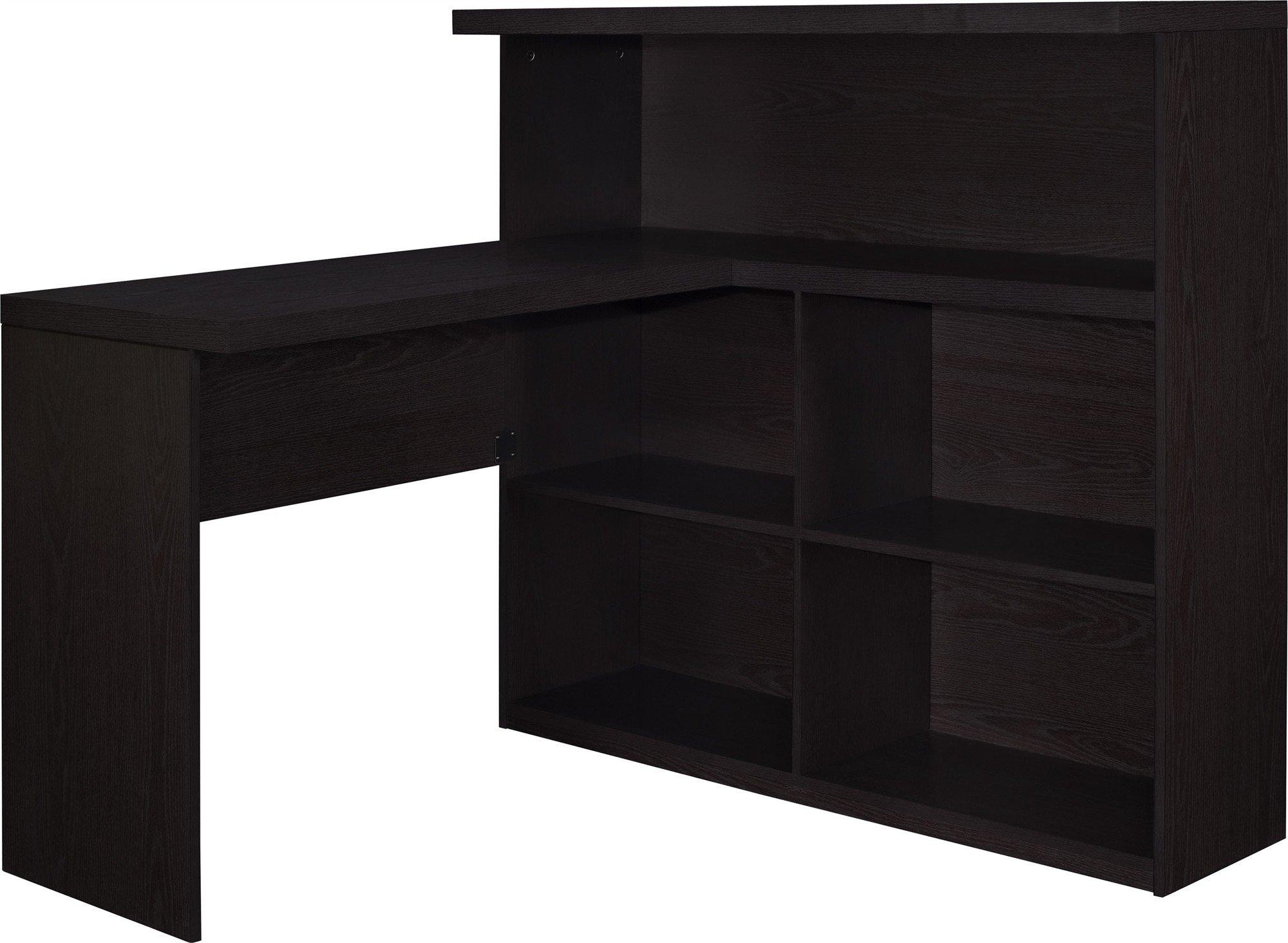 Altra Furniture Trillium Way Sit/Stand L-Shaped Desk, Espresso