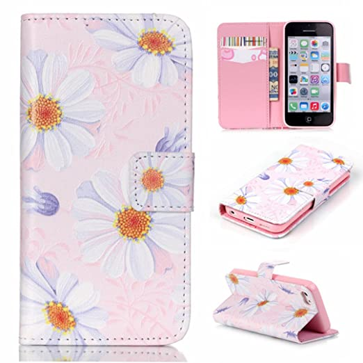 6 opinioni per Xf-fly Custodia Cassa Di Cuoio per Apple iPhone 5C,portafoglio / wallet / libro