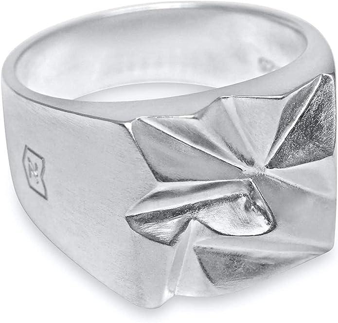 prezzi Herren Schmuck Ring 925 Sterling Silber Siegelring
