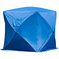 Outsunny Multi-Person Pop-up Ice Shelter Insulated Ice Fishing Tent Outdoor Portable