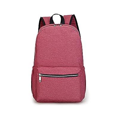 e850e4a106 Outreo Sac de Cours Ecole Sac a dos Leger Impermeable Loisir Sac Femme  Sport Backpack Universite Voyage Sacoche pour College Bag, Rouge:  Amazon.fr: ...