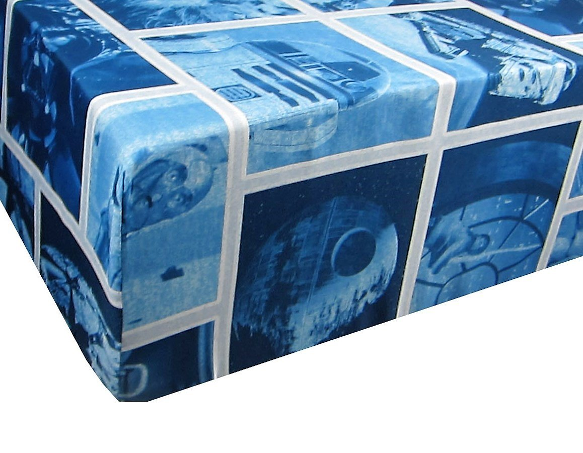 Classic Logo Blue Star Wars 100% Polyester (FITTED SHEET ONLY) Size TWIN Boys Girls Kids Bedding