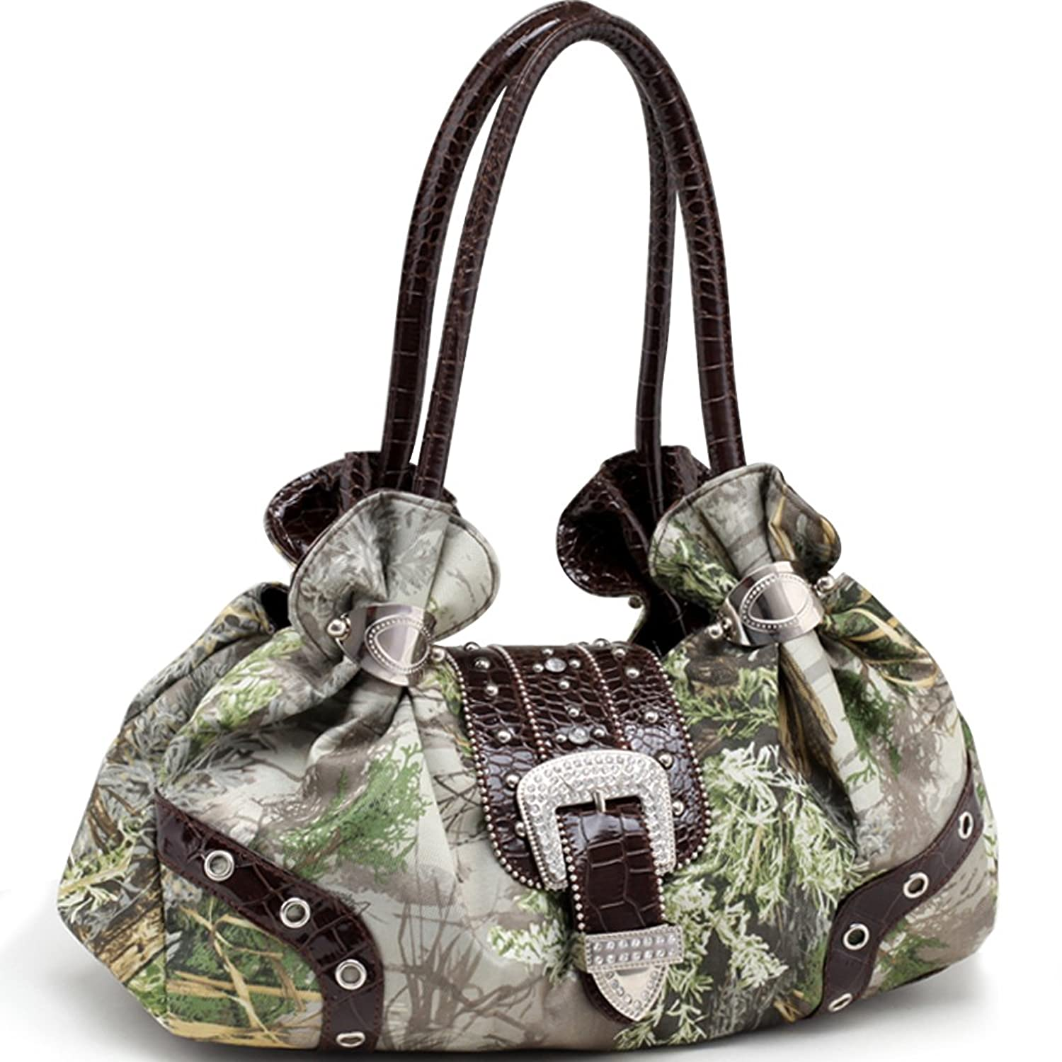 Realtree Camouflage Shoulder Bag w/ Rhinestone Buckle Accent