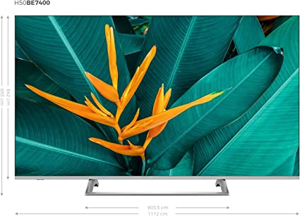Hisense H50B7500 - TV 50 4K Ultra HD Smart TV con Alexa Integrada, 3 HDMI, 2 USB, Salida óptica, WiFi n, Bluetooth, HDR Dolby Vision, Audio DTS, Procesador Quad Core, Smart TV