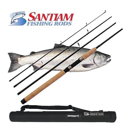Santiam Fishing Rods Travel Rod 4 Piece 8 6 10-20lb MF Graphite Spinning Rod