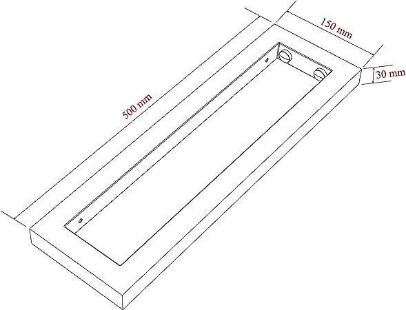 Wandkonsole Edelstahl Set 500x150x30mm Waschtisch Waschbecken Tr/äger Regaltr/äger Regalhalter Wandhalterung Handtuchhalter Konsolenhalterung PH24X2
