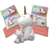 "Kayco Outlet - Two Unicorn Stuffed Animals - Cute Unicorn Gifts Large 14"" White and Baby Unicorn with Birth Certificates…"