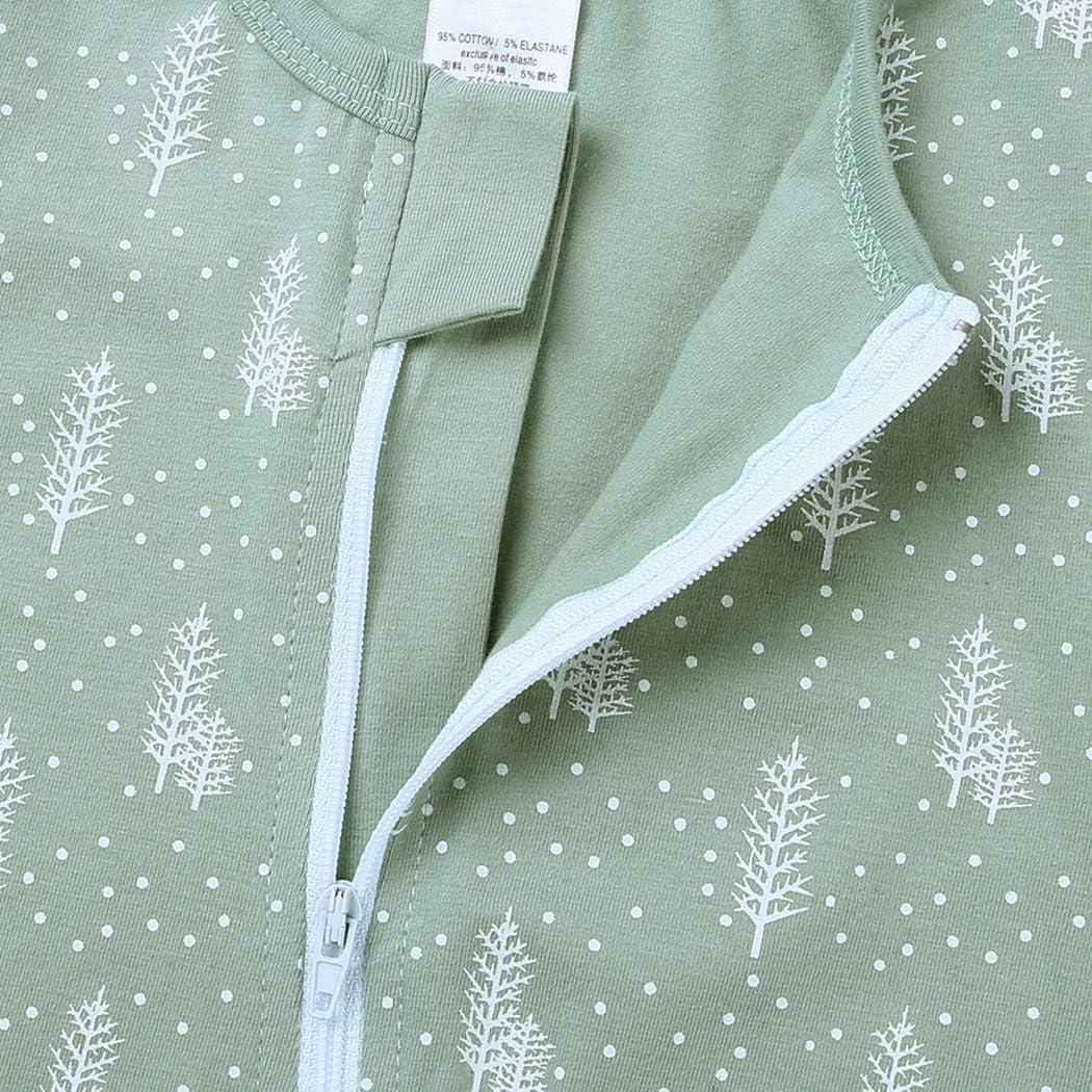Mary ye Baby Boys 1Piece Cotton Bodysuit Infant Graphic Pajamas 2-Way Zip Romper