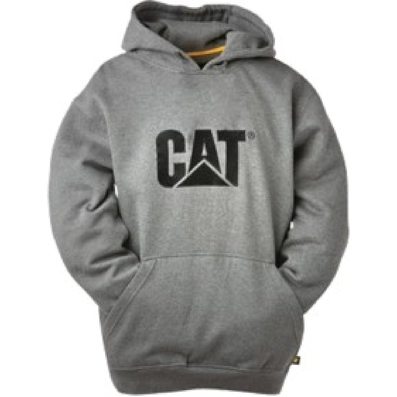 (キャタピラー) Caterpillar メンズ トレードマーク CW10646 パーカー プルオーバー スウェットシャツ フーディー B00PI27TXQ S|へザーグレー へザーグレー S