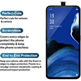 True Desire Tempered Glass for Oppo Reno 2Z protector Full Glue Edge to Edge Fit 9H Hardness Bubble Free Anti-Scratch Crystal Clarity Screen Guard for Oppo Reno 2Z - Black