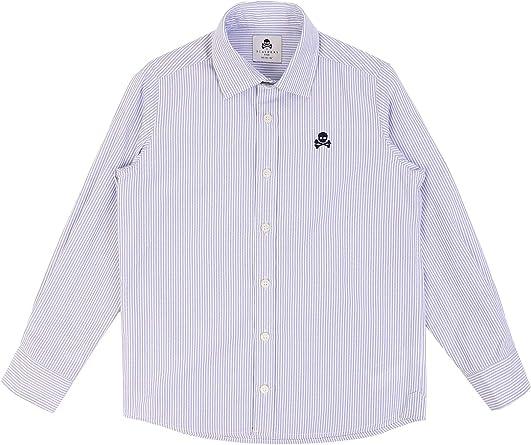 Scalpers Camisa ALGODÓN Logo Calavera - Navy Stripes / 12 ...