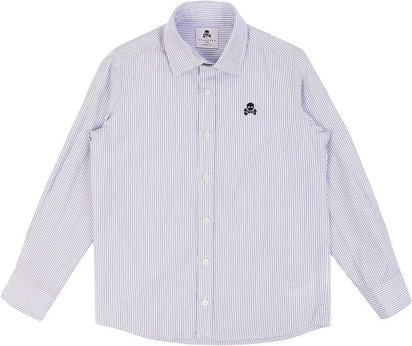 Scalpers Camisa ALGODÓN Logo Calavera - Navy Stripes / 10: Amazon.es: Ropa y accesorios