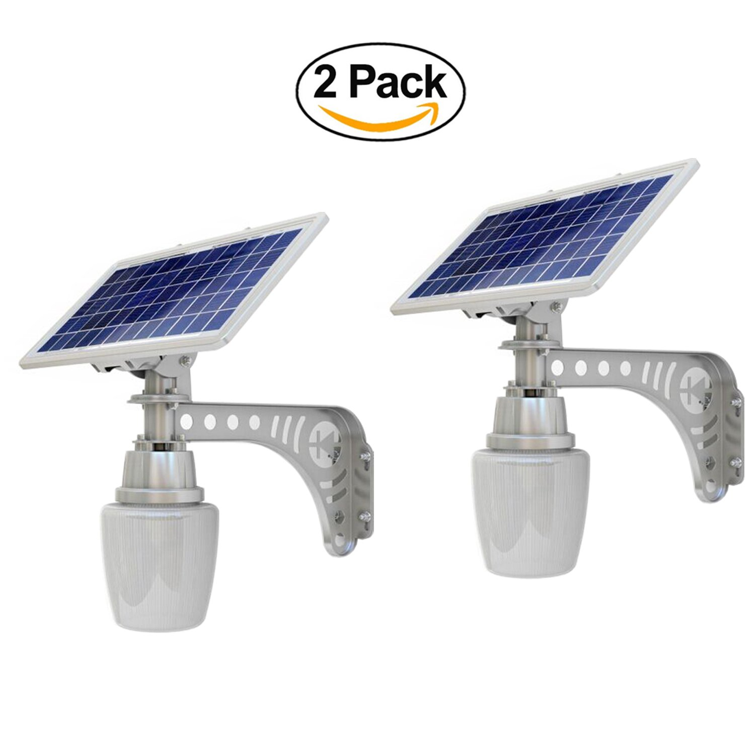 BrightLyf 2X PACK Solar Street Light Outdoor Courtyard IP65 Wall Mount Deck Night Lights Security Lamp Commercial by BrightLyf