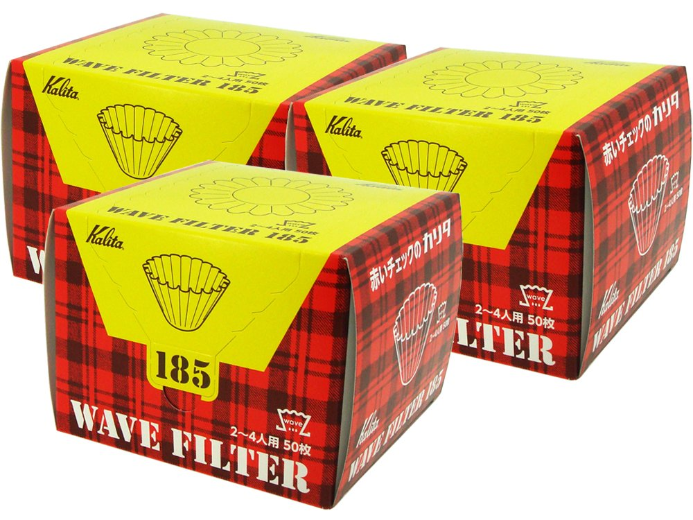 Kalita New Wave Filter 185 White[Dripper 185/for 2~4 Persons] 50×3 boxes