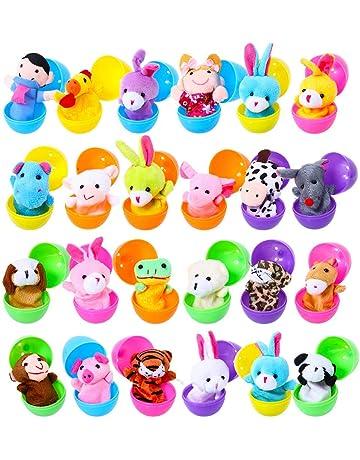 Pascua Cumpleaños Partido Sorpresa Juguete, 24 Piezas de Marionetas de Mano Set Marionetas de Animales