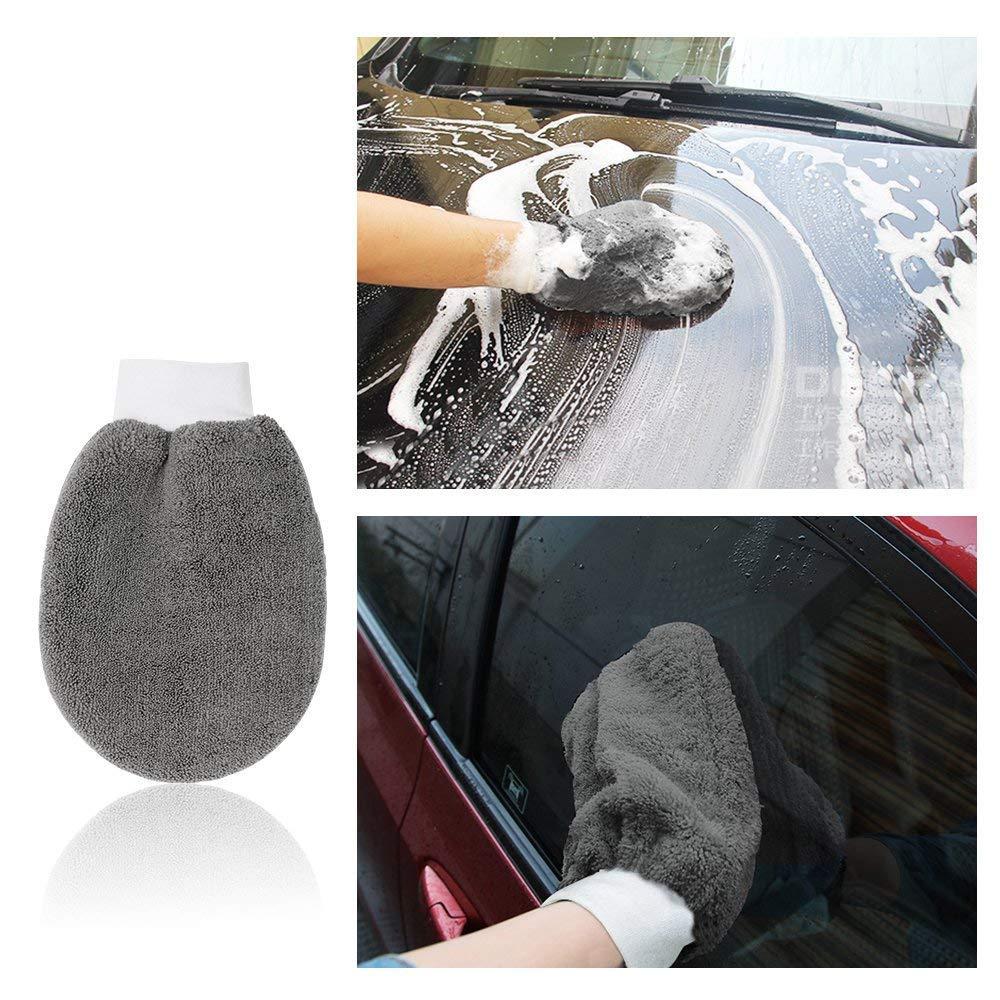 Autowaschset Cleaner Auto Set dentretien automobile Set voiture Vent Brosse Tire gant de lavage tampon applicateur cire /éponge chiffons en 9 pi/èces Outils professionnels Nettoyage de voiture