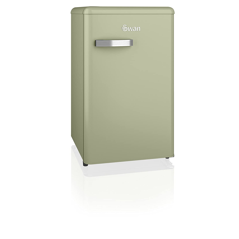 Swan SR11035CN Freestanding Retro Under Counter Fridge Freezer 90 Litre Cream A+ Rated