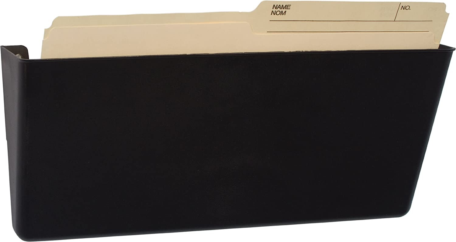 Storex Magnetic Legal Sized Wall Pocket, 7.0 x 16.3 x 4.0-Inch, Black, Recycled Plastic, 70226U01C Storex Industries Corp.