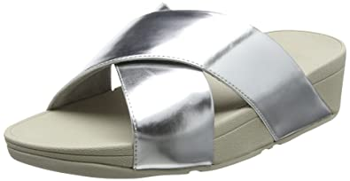 82332aafd23f7 FitFlop Lulu Cross Slide Womens Mirror Mules 4 C (M) UK  6 B