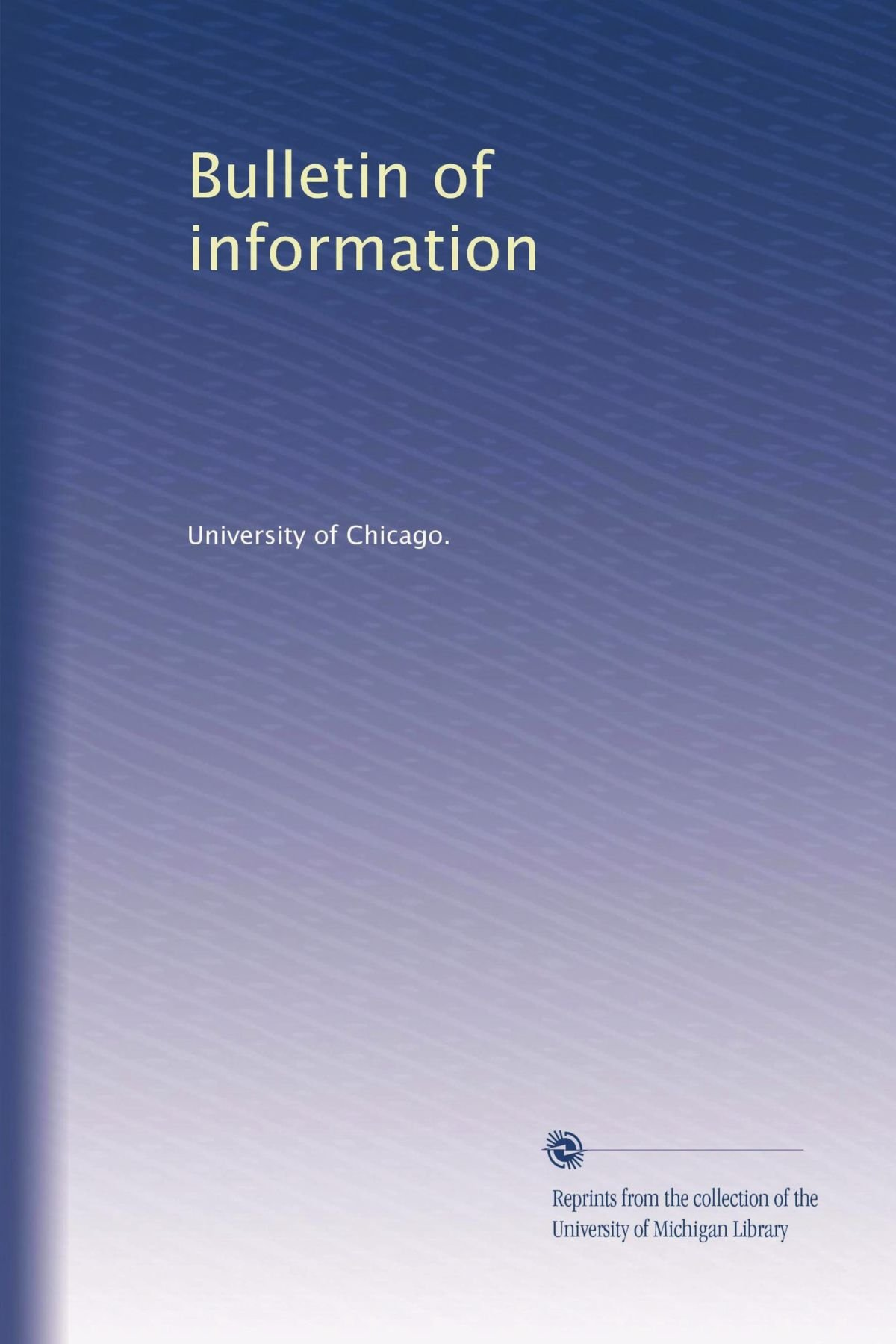 Bulletin of information (Volume 22) pdf epub