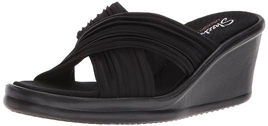 Skechers Women's Rumblers Luxe Thread Sandal Black
