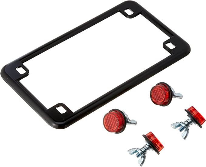 New Ducati Seattle Motorcycle Bike Moped Rear License Plate Frame Black Red USA