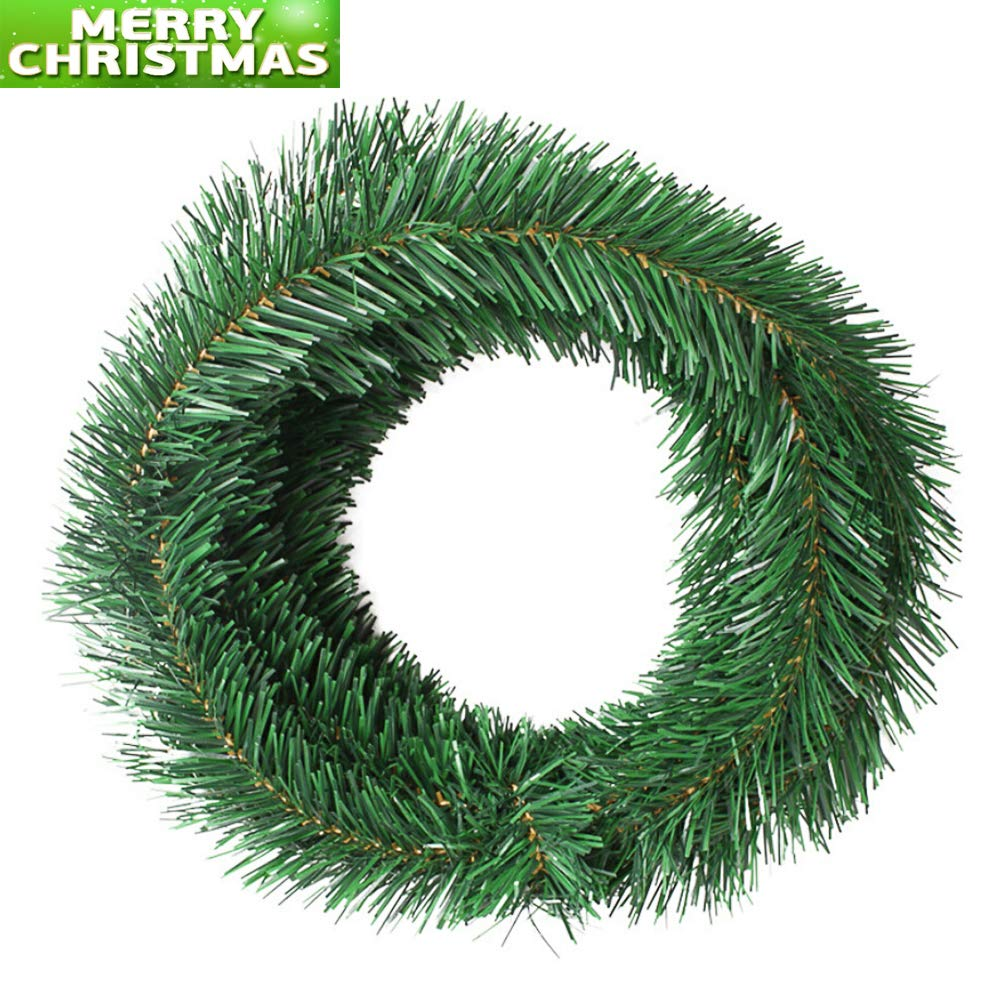 UNIKbrush 50 Foot Garland for Christmas Decorations Non-Lit Soft Green Holiday Decor for Outdoor or Indoor Use Premium Quality Home Garden Artificial Greenery or Wedding Party Decorations