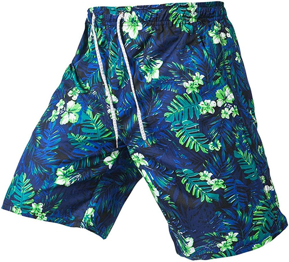 Shorts Trunks Mens Shorts Trunks Quick Dry Beach Surfing Relaxation Print Running Water Pants Huaa Casual 5 Inch Inseam