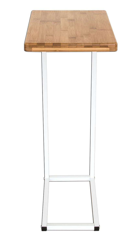 BonVIVO® Designer Couchtisch DONNA, Beistelltisch In Moderner Edelstahl Naturholz  Kombination Mit Stahlgestell In Weiß: Amazon.de: Küche U0026 Haushalt