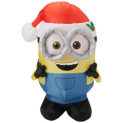 Gemmy Christmas Inflatable Minion Bob, 3.5 Feet: Home & Kitchen