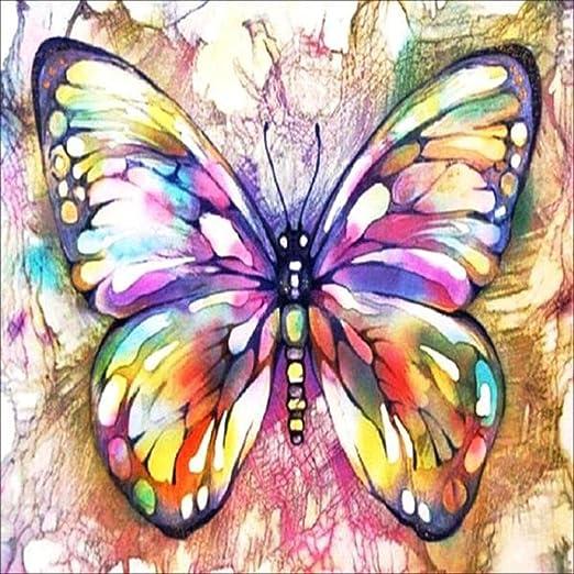 Rameng- -- 5d Pintura de Diamante Mariposa DIY de Punto de Cruz en ...