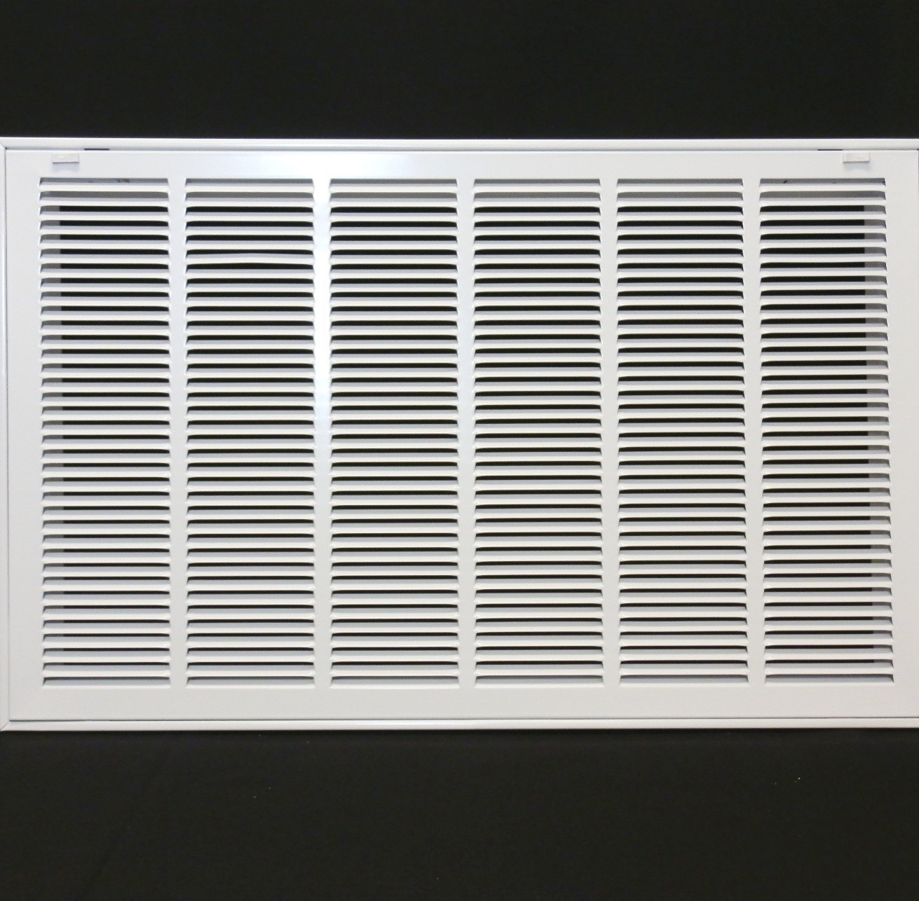 "30"" X 20 Steel Return Air Filter Grille for 1"" Filter - Removable Face/Door - HVAC Duct Cover - Flat Stamped Face - White [Outer Dimensions: 32.5 X 21.75]"