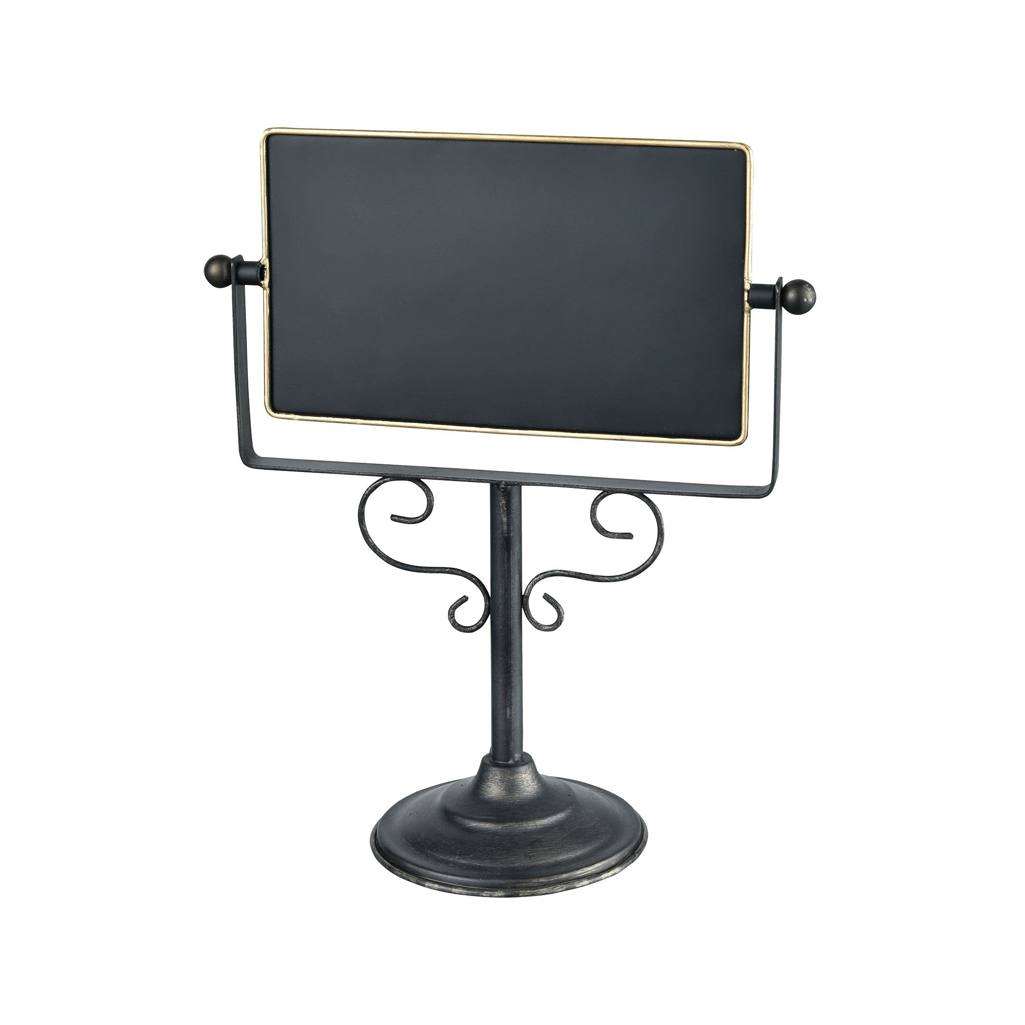 Chateau 10 x 11.5 Inch Decorative Tabletop Double Sided Chalkboard on Pedestal Stand