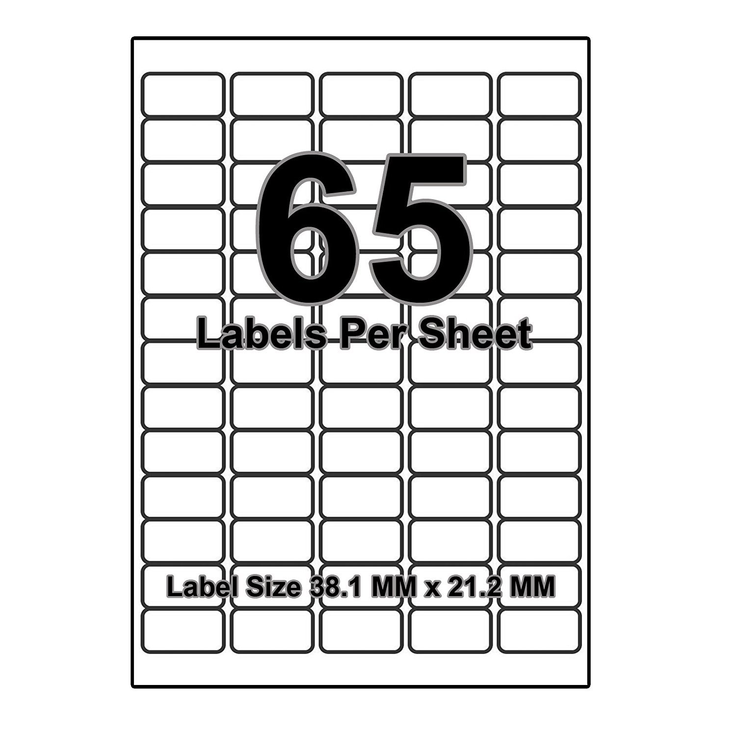 6 per page sheet 50 sheets 300 sticky label isoul white blank