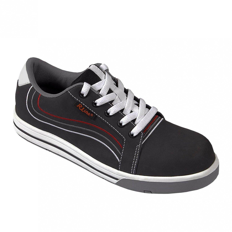 RLine Sicherheitsschuh Nubukleder S3 Virginia Sneaker aus Nubukleder Sicherheitsschuh mit Zehenschutzkappe und Durchtrittschutz metallfrei - a7549c