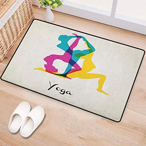 Amazon.com: Yoga, alfombrillas de puerta, alfombra de área ...