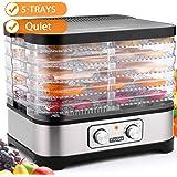 Food Dehydrator Machine, Jerky Dehydrators with Five Tray, Knob Button (Knob)
