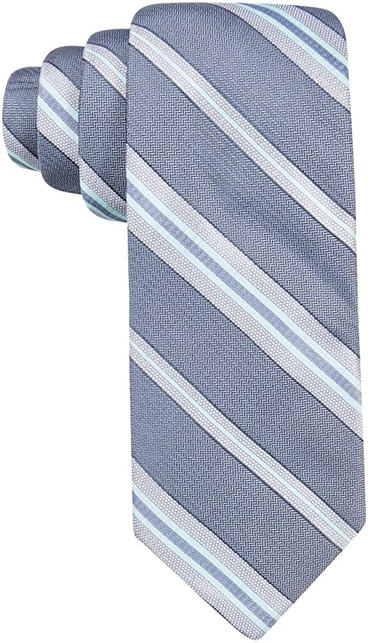 Ryan Seacrest Mens Imperial Striped Slim Neck Tie Navy O//S