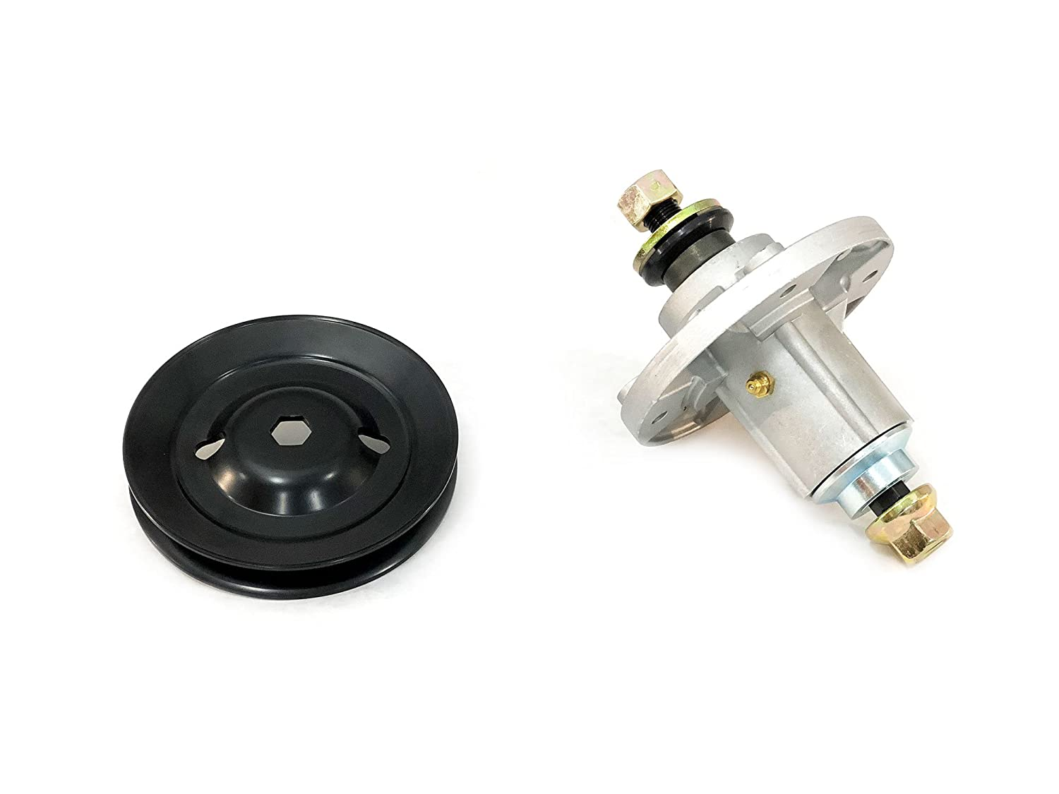 Spindle Assembly With Pulley Replaces John Deere TCA13807