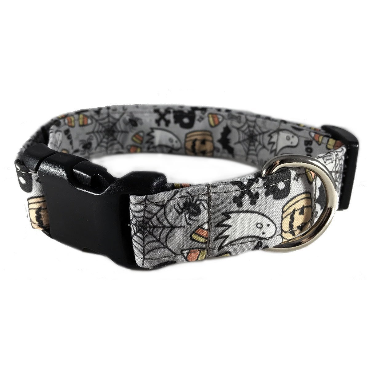 Halloween Dog or Cat Collar for Pets Size Small 3/4'' Wide and 10-14'' Long by Oh My Paw'd