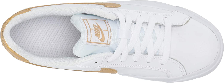Nike Wmns Court Royale AC, Scarpe da Tennis Donna Bianco White Mtlc Gold 109